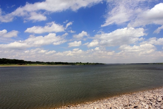 another view of lake and sky at alum creek state park state park ohio