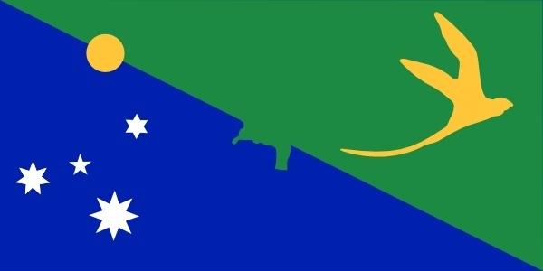 Antarctica Christmas Island Flag clip art