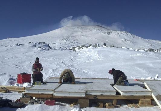 antarctica men working
