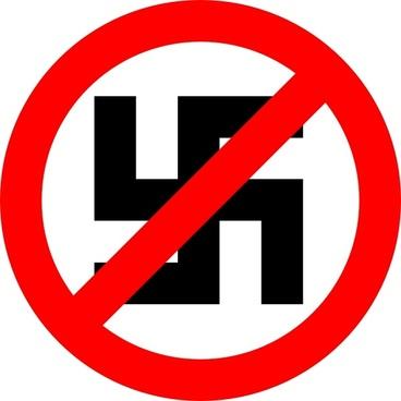 Anti Nazi Symbol clip art