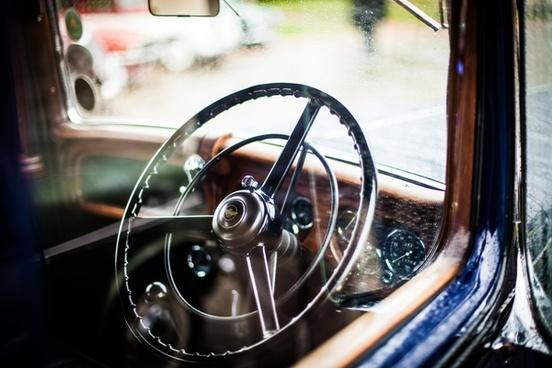antique auto automobile car chrome classic design