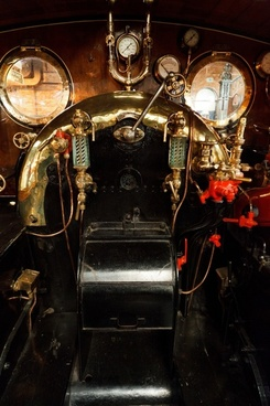 antique black engine