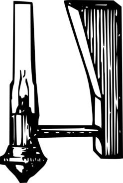 Antique Candle Lamp clip art