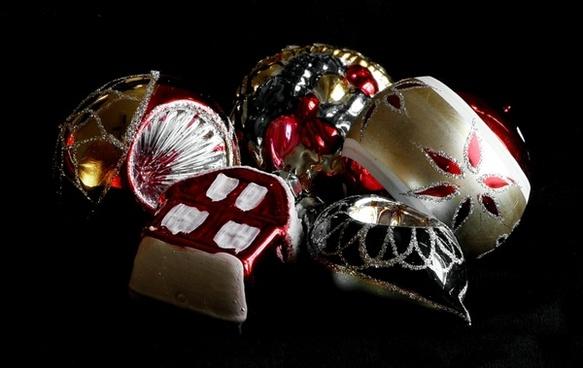 antique christmas ornaments glass decoration