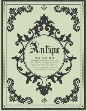 antique decorated background symmetric pattern design