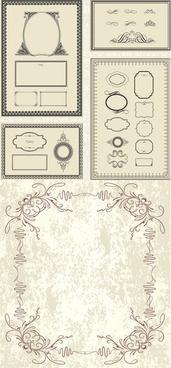 antique decorative border vector