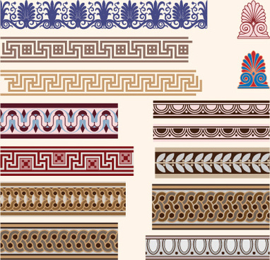 antique decorative pattern border vector