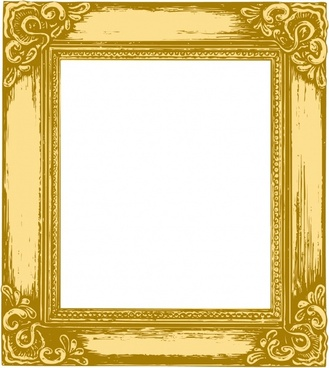 antique gold frame picture frame vector