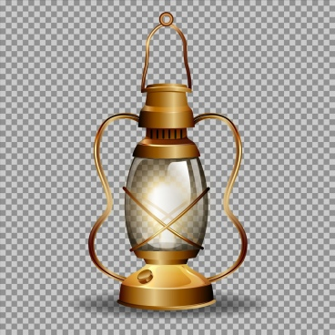 antique lamp icon shiny 3d golden design