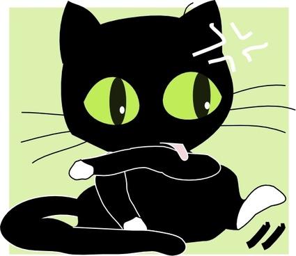 Antontw Black Cat clip art
