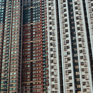 apartment architecture block building center city