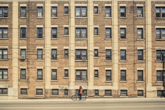 apartment architecture brick building city