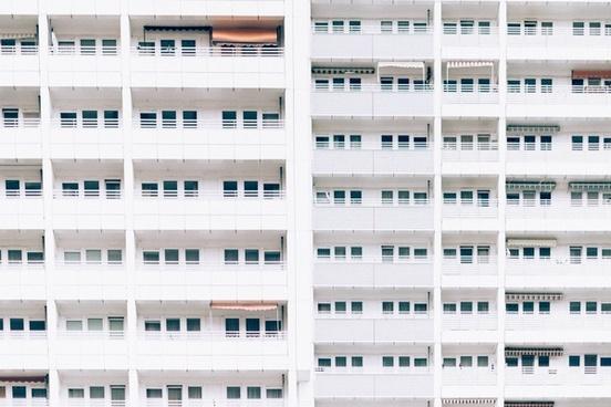 apartment balcony big building city contemporary