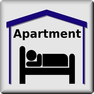 Apartment Symbol Pictogram clip art