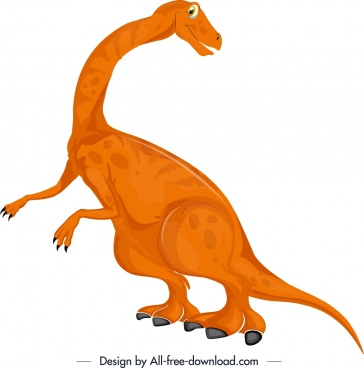apatosaurus dinosaur icon cute cartoon design