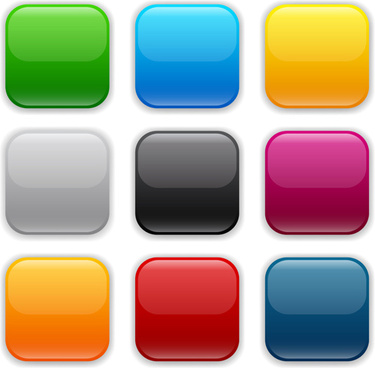app button icons colored vector set