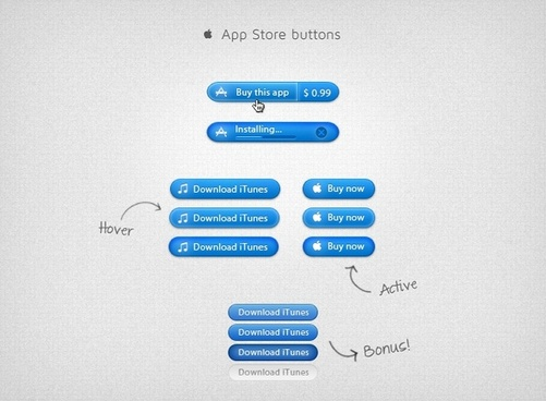 App Store Buttons