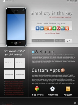 App Wizards Free PSD Template