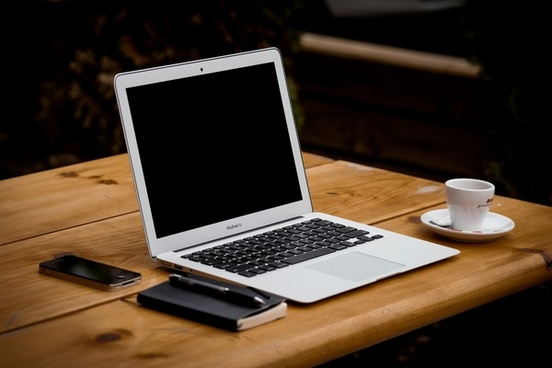 apple coffee computer cup desk iphone keyboard