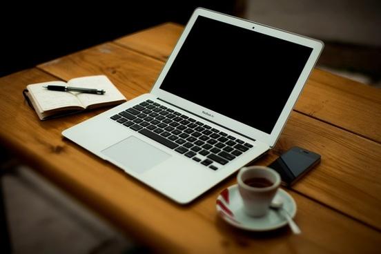 apple computer cup desk drink iphone keyboard