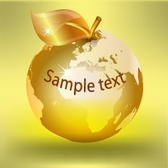 golden apple background shiny closeup style design