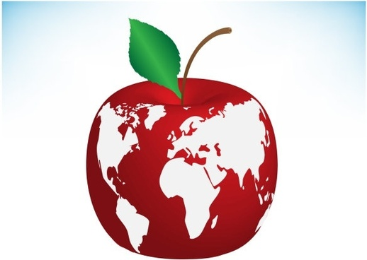apple earth vector 2