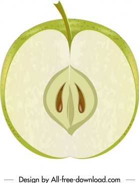 apple fruit background closeup vertical cut sketch