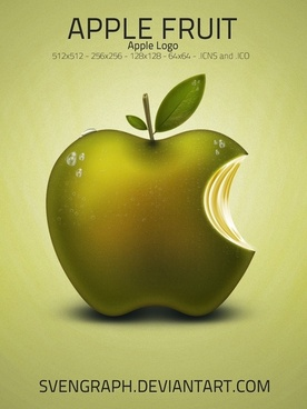 Apple Fruit Logo icons pack