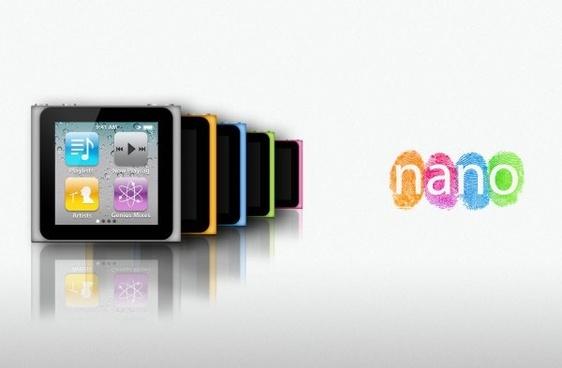 apple ipod nano 6g psd