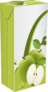 apple juice drinks package design vector