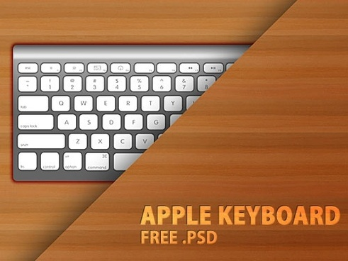 Apple Keyboard PSD file