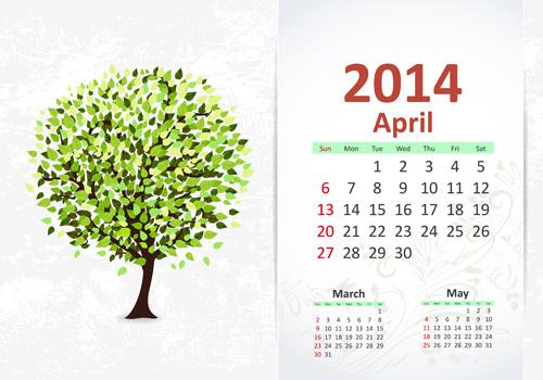 april14 calendar vector