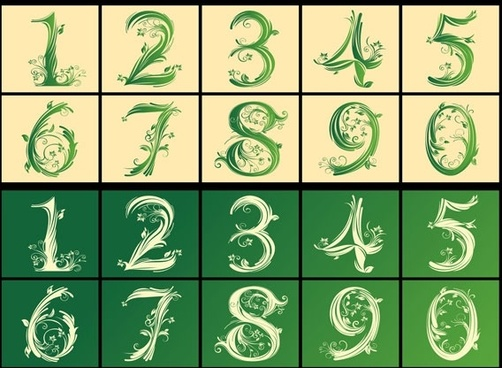 arabic numerals pattern vector