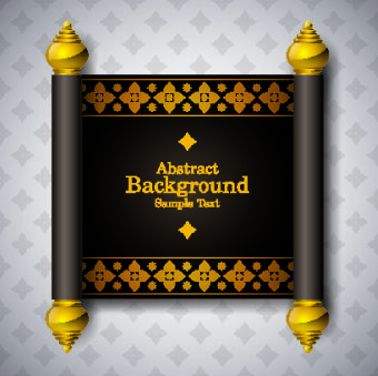 arabic style scroll background vector