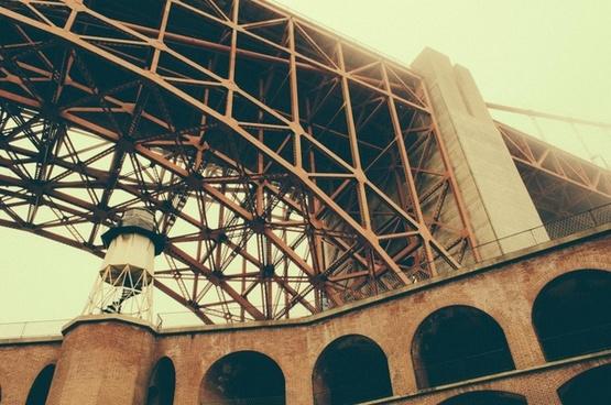 arch architecture brick bridge building california