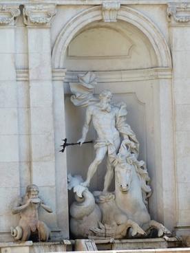 arched niche monumental sculpture