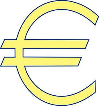 Archie Symbol Money Euro Simple clip art
