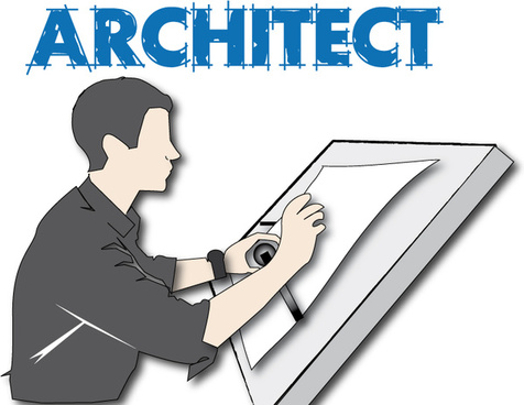 architect drawing on a sketch table