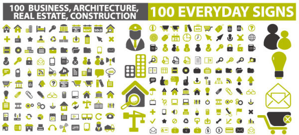 architectural creative icons vector