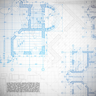 architectural drawing design elements vector