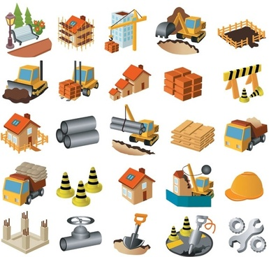 architectural theme icon vector