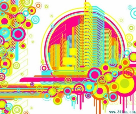 architecture and pattern vector