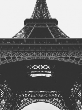 architecture art black and white city couple eiffel