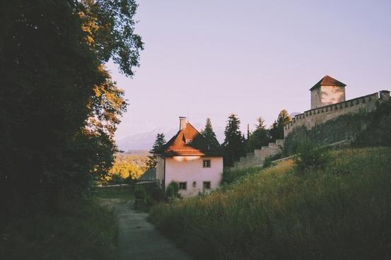 architecture autumn building castle church cottage