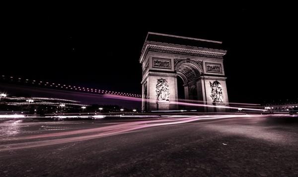 architecture avenue blur building car city evening