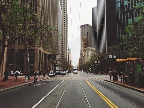 architecture avenue bridge building car city