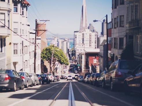 architecture avenue building car city downtown