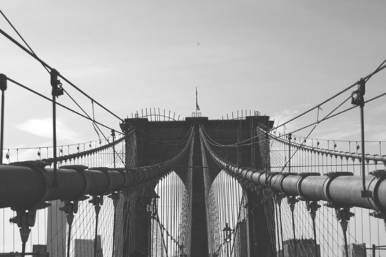 architecture barbed wire black and white bridge