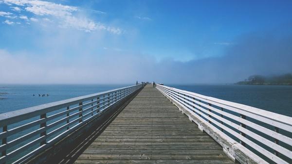 architecture beach boardwalk boat bridge dock jetty