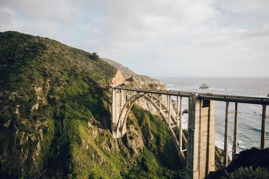 architecture beach bridge cloud dam fog hill